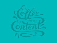 Coffee before content