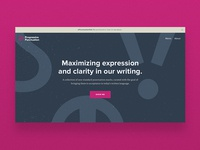 Progressive Punctuation landing page