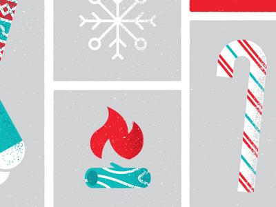 NewsCred holiday card 2016 wood snow fire texture mailer card greeting season holiday christmas