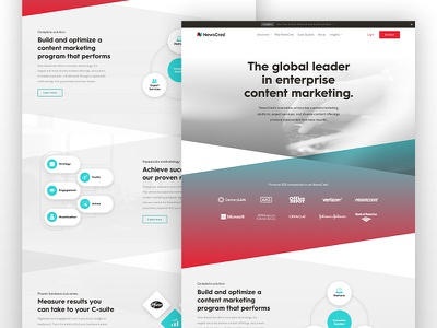 New marketing website hierarchy diagrams landing page angles gradient site web website tech startup