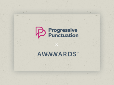 Progressive Punctuation | Site of the Day Nominee site type punctuation nomination award web