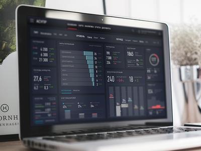 Processing dashboard dark graph taskmanager data stats chart bars analytics dashboard