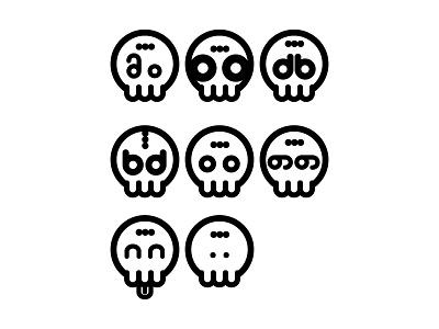 Sugar Skull Icons circles sugar skull emoticons icons