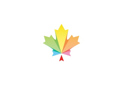 Canada Newcomers mark diversity. colors newcomers welcome canada logo icon