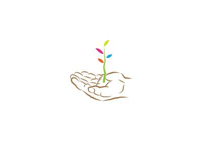 Plant palm harvest planting logo icon