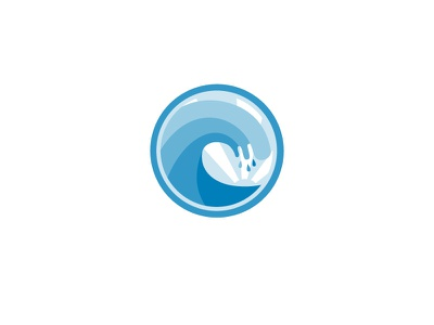 Blue Wave water ocean sea beach white blue wave logo icon