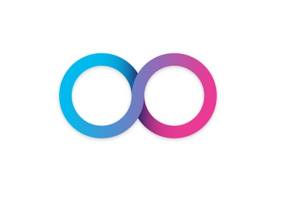Obladi Oblada cycle complement infinite forever matching couple dating logo icon