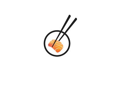 Sashimi salmon fish food japanese sushi sashimi logo icon