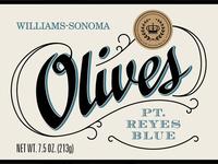 Olive package label detail