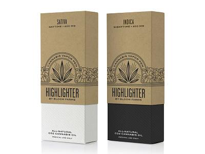 Highlighter Vapor Pen packaging typography cannabis marijuana medical branding logo pavement hester design