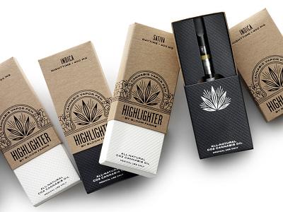 Highlighter Packaging packaging typography cannabis marijuana medical branding logo pavement hester design