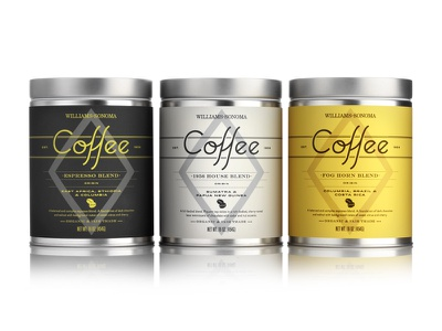 Williams-Sonoma Coffee Tins packaging williams-sonoma coffee hester pavement beverage food