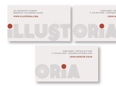 Illustoria Identity business card hester illustoria logo identity pavement