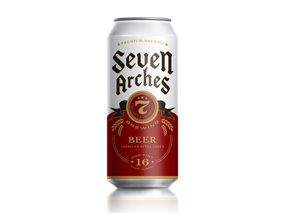 Seven Arches Brewing design hester beer packaging pavementsf pavement