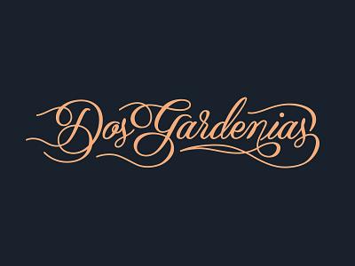Dos Gardenias Logo pavement design identity branding hester pavement dos gardenias logo