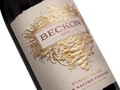 Beckon by Fetzer Vineyards wine label fetzer hester pavementsf pavement packaging wine beckon