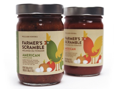 Finished Farmers Scramble food packaging identity gourmet breakfast