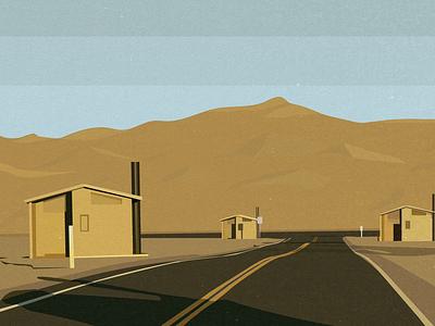 Yellow Desert graphic art vector illustration art adobeillustrator