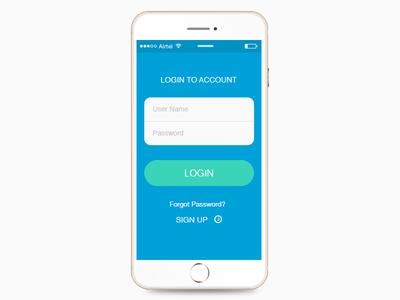 iphone 6 Mobile UI- login