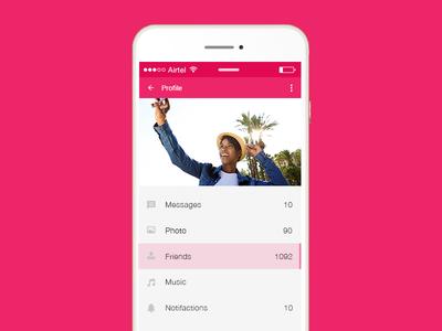 Mobile UI- Profile
