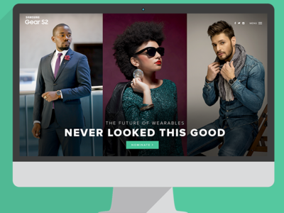 Landing page for Samsung Gear S2 Digital Campaign