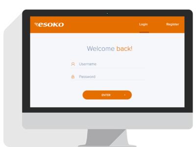 Esoko Platform - Login page