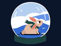 snow globe bunny.
