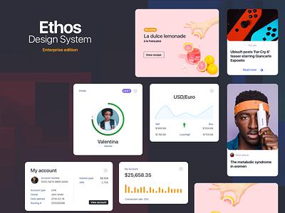 ethos design system design app ui flat design dashboard application design language design system