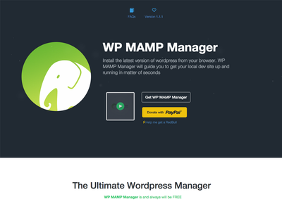 WP Mamp Manager application flat colors simple and clean modern flat design website mamp wordpress