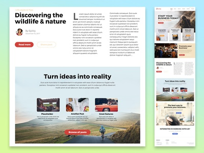 Journey UI Kit Preview ui kit kit simple trip journal website webpage web design web ui blog landing