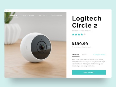 Product page ecommerce website web product page product ui design ui