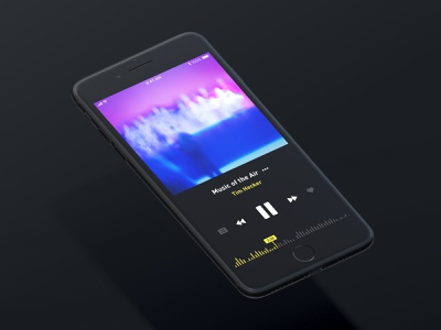Now playing minimal ui design ui app music now playing music player music app ios