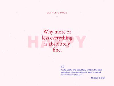 Happy minimal print typography