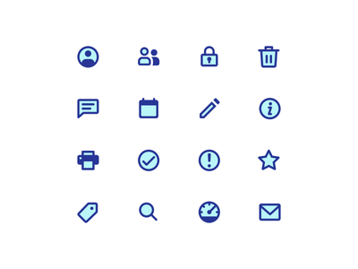 Simple two-tone icons minimal two tone simple icons