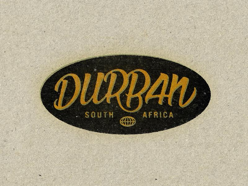 Durban branding typography handlettering vintage art director orange county orange county graphic designer design art logo jamie stark
