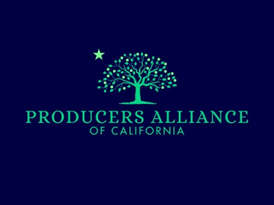 Producers Alliance of California Logo logo identity design brand design branding