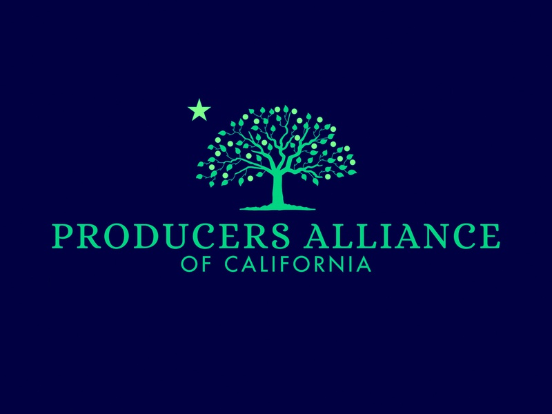 Producers Alliance of California Logo logo identity design brand design branding