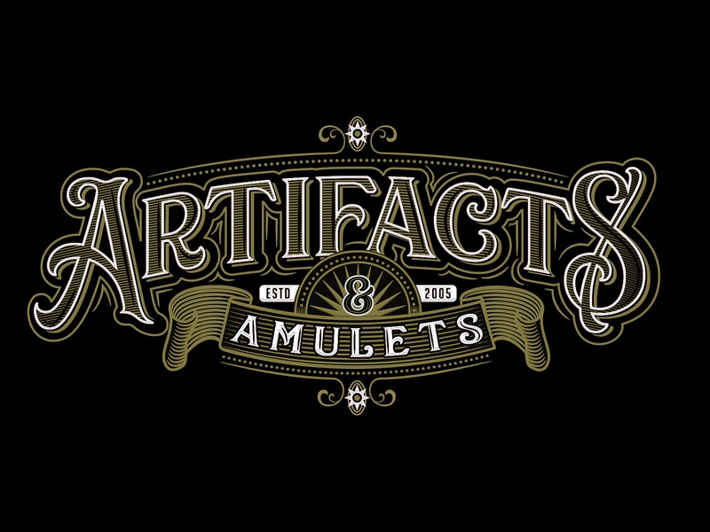 Artifacts  & Amulets jewelry typogaphy art director orange county graphic designer art director orange county jamie stark victorian