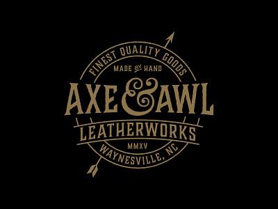 Axe & Awl Leatherworks branding design brand desing branding orange county graphic designer typography jamie stark