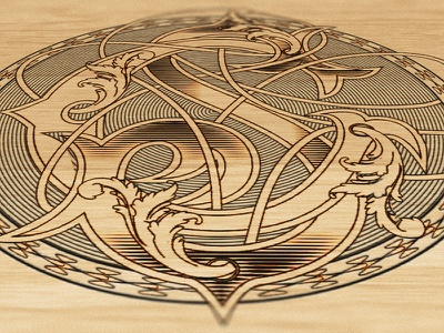 CS Monogram wood laser engraving laser engraving engraving cs logo typography jamie stark