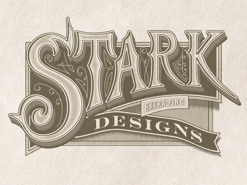 Stark Handletter self promotion stark designs typography packaging design jamie stark