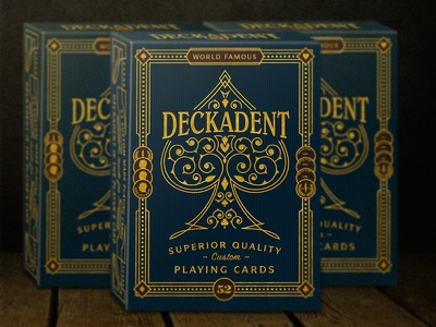 Deckadent™ Playing Cards art director typography engraving laser engraving orange county graphic designer artist art jamie stark