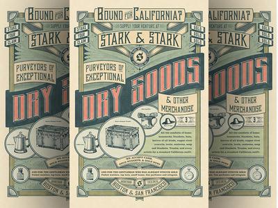 Dry Goods Full Poster art poster designer package director creative county orange stark jamie