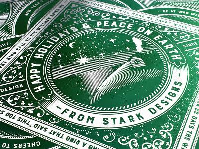 Foil Stamped Holiday Card art director orange county graphic designer typography jamie stark