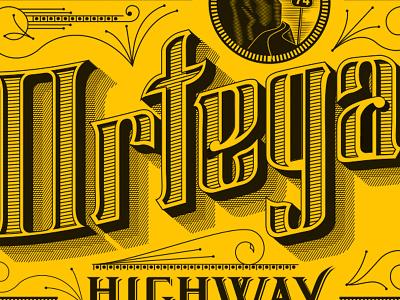 Ortega Highway cigar packaging art director orange county graphic designer typography jamie stark