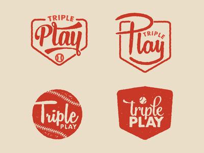 Triple Play brand branding art poster designer package director creative county orange stark jamie
