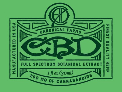 CBD Label cbd art director typography engraving laser engraving orange county graphic designer artist art jamie stark