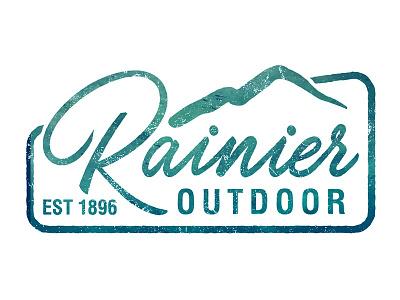Rainier Logo design logo art director laser engraving art director orange county graphic designer jamie stark