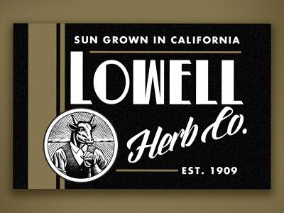 Lowell Sticker 4 cannabis packaging cannabis logo orange county graphic designer art director orange county typography graphic designer jamie stark