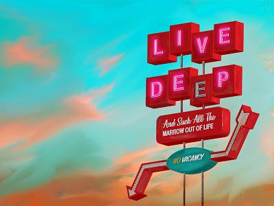 Live Deep ipad pro illustration artist orange county graphic designer art director orange county graphic designer jamie stark